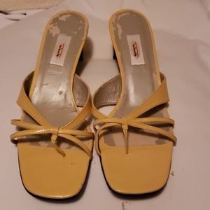 a1ca07925 ... Ladies shoes Christian Louboutins they run small Talbots sandals Split  toe sandal color yellow lea ...